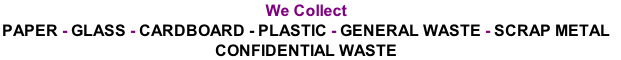 We Collect